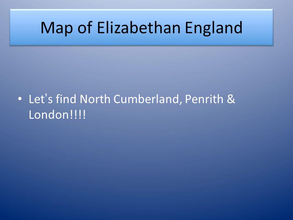 Map of Elizabethan England