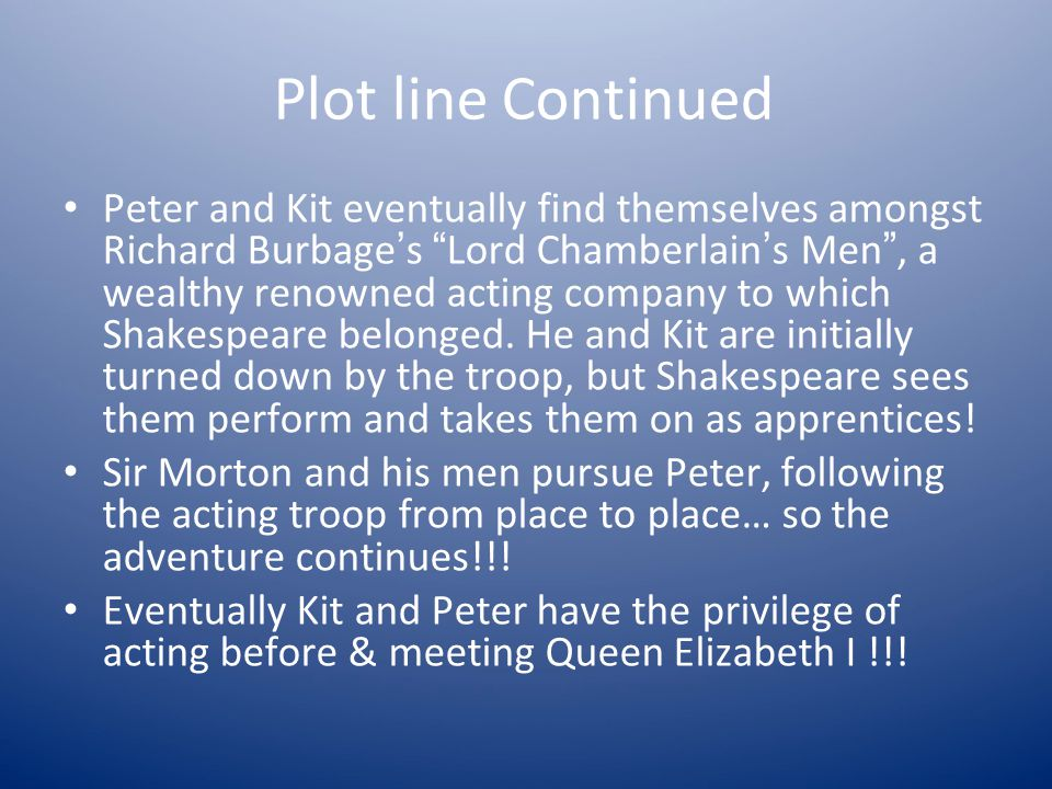 Plot line Continued