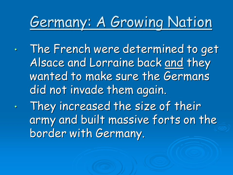 Germany: A Growing Nation