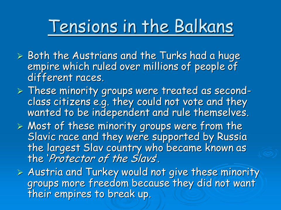 Tensions in the Balkans