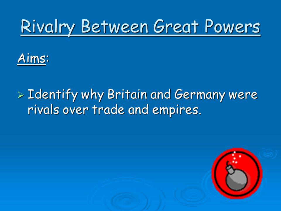 Rivalry Between Great Powers