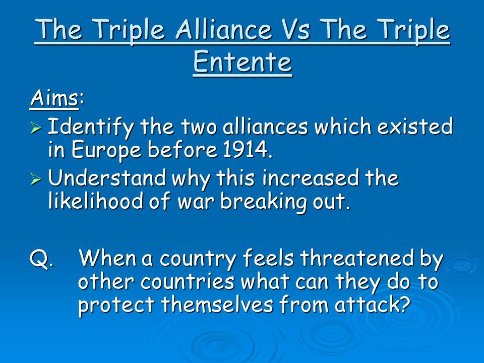 The Triple Alliance Vs The Triple Entente