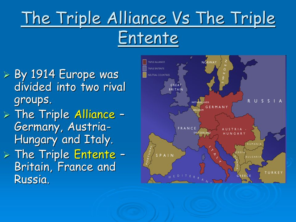 what were the triple alliance and the triple entente