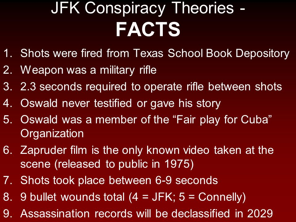 JFK Conspiracy Theories - FACTS