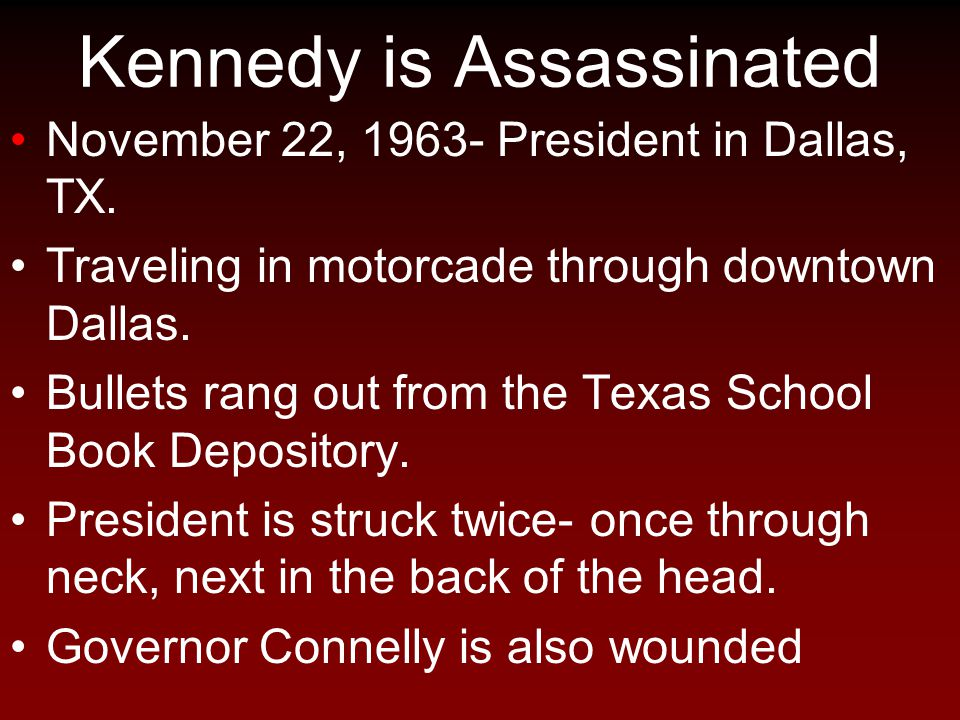 Kennedy is Assassinated