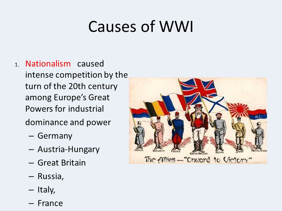 Causes of WWI dominance and power Germany Austria-Hungary