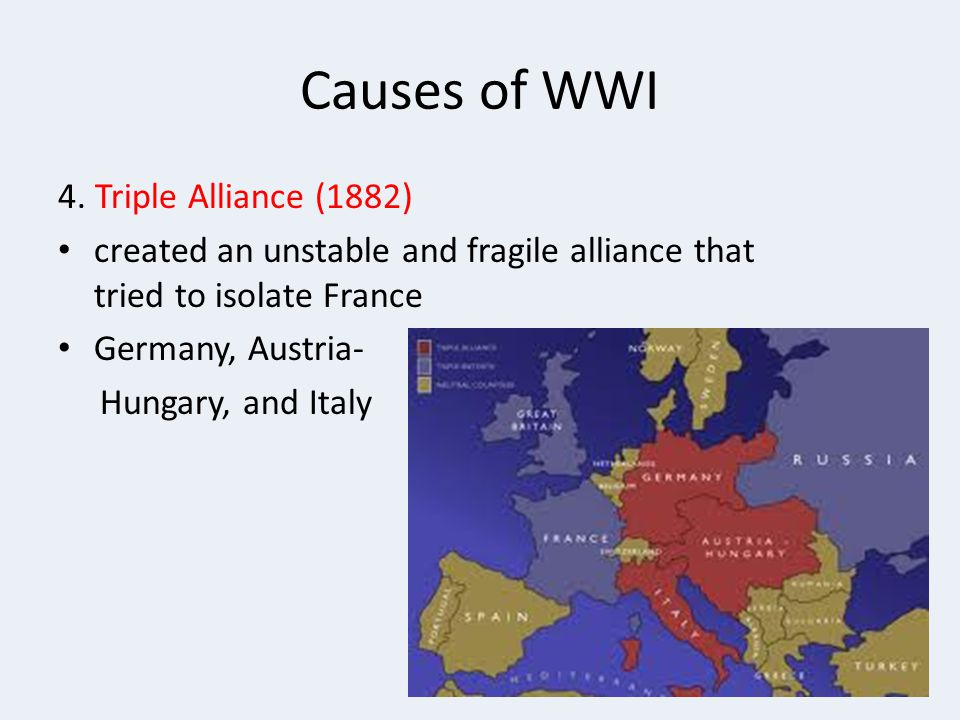Causes of WWI 4. Triple Alliance (1882)