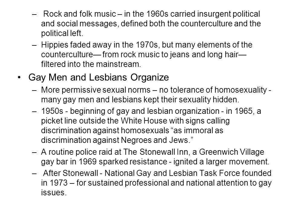 Gay Men and Lesbians Organize