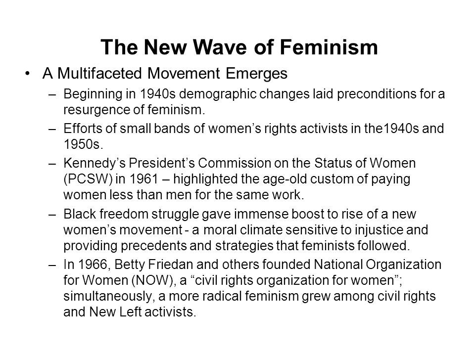 The New Wave of Feminism