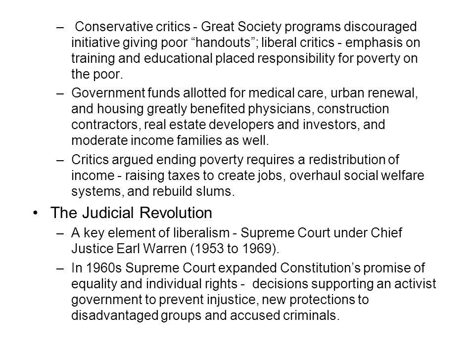 The Judicial Revolution