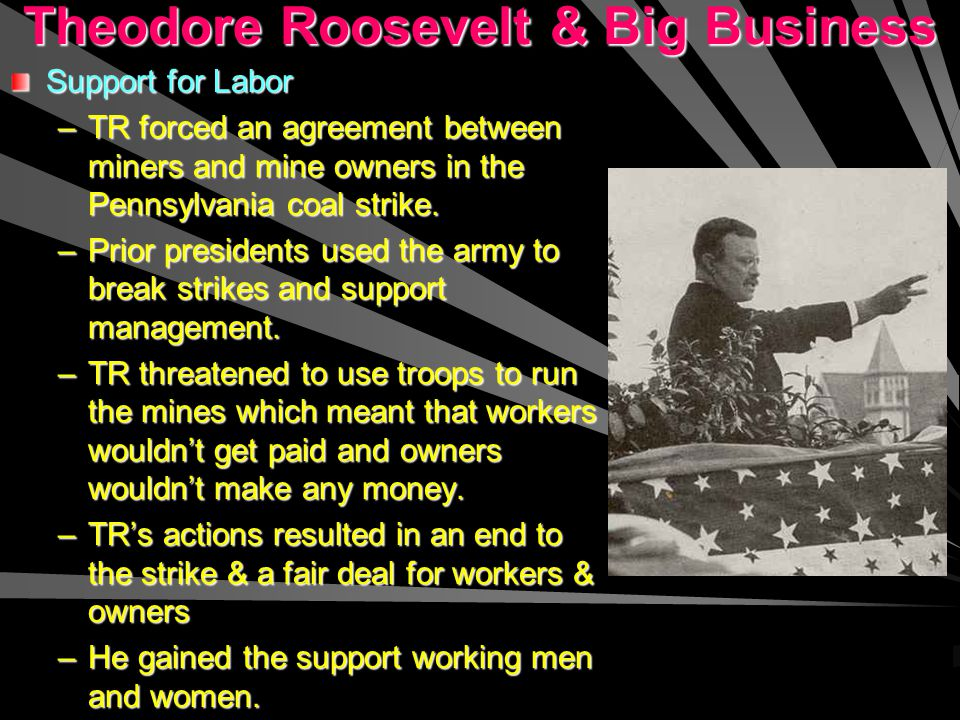 Theodore Roosevelt & Big Business