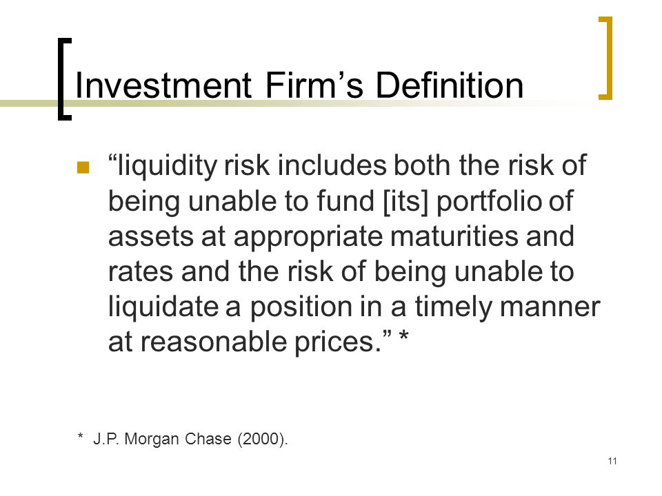 Investment Firm's Definition