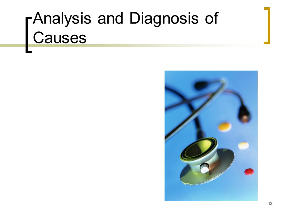 Analysis and Diagnosis of Causes