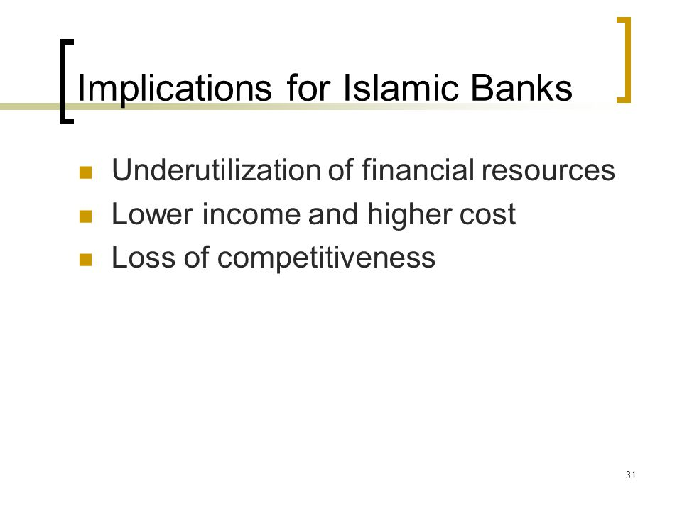 Implications for Islamic Banks