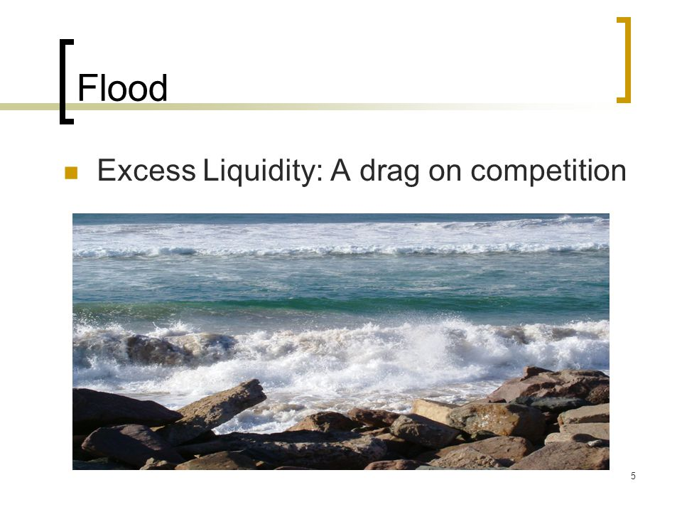 Flood Excess Liquidity: A drag on competition