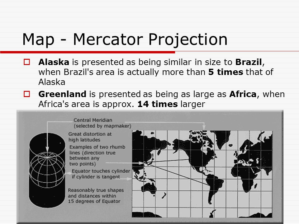 Map - Mercator Projection