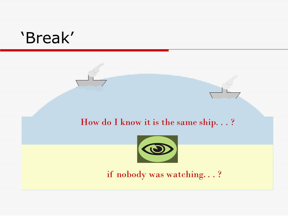 How do I know it is the same ship. . .