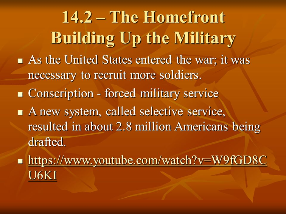 14.2 – The Homefront Building Up the Military
