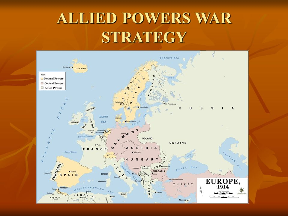 ALLIED POWERS WAR STRATEGY