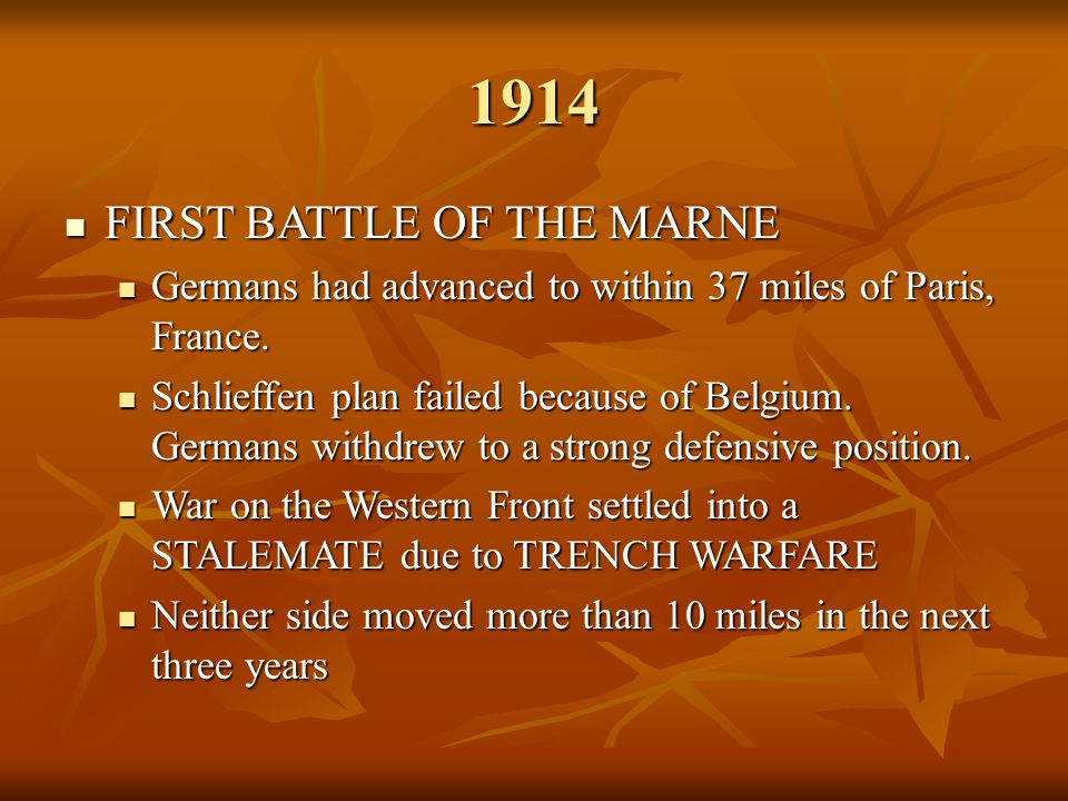 1914 FIRST BATTLE OF THE MARNE