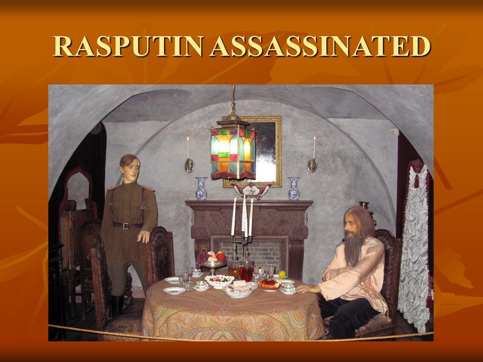 RASPUTIN ASSASSINATED