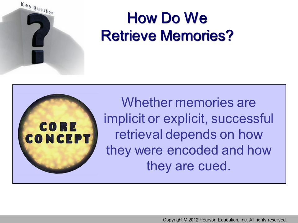 How Do We Retrieve Memories