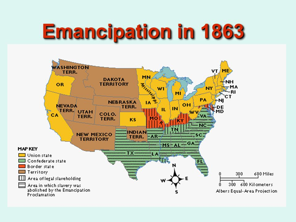 Emancipation in 1863