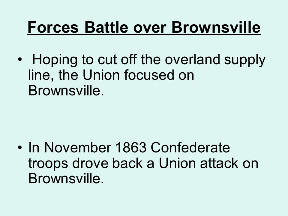 Forces Battle over Brownsville