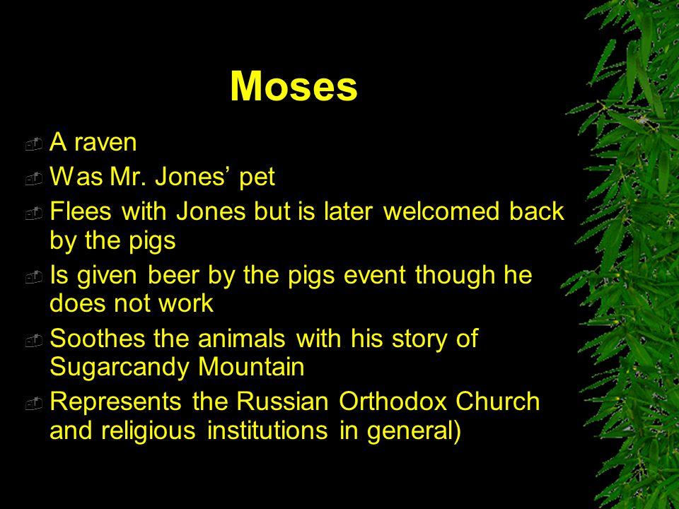 Moses A raven Was Mr. Jones' pet