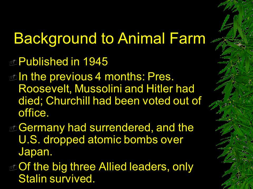 Background to Animal Farm