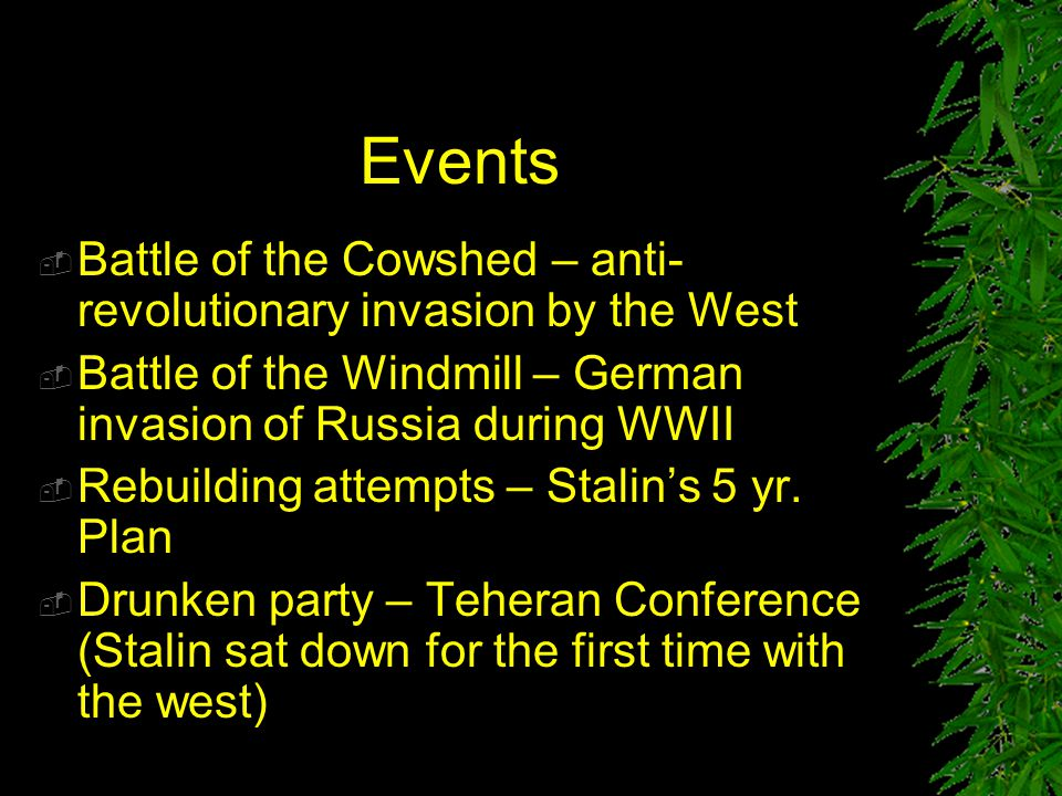Events Battle of the Cowshed – anti-revolutionary invasion by the West