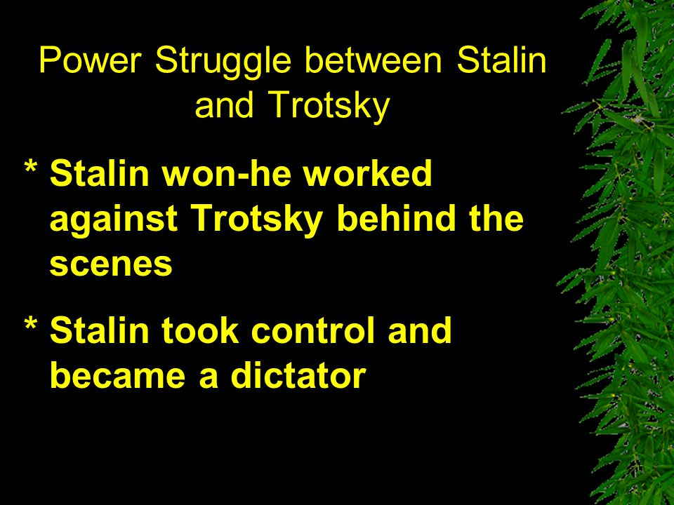 Power Struggle between Stalin and Trotsky