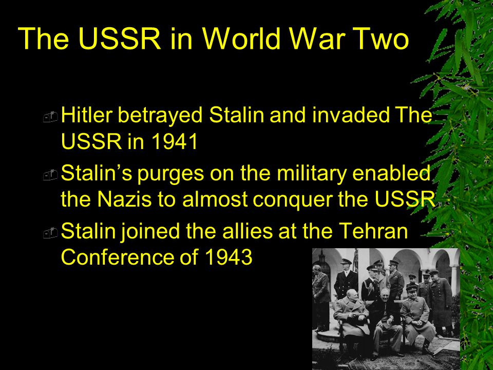 The USSR in World War Two