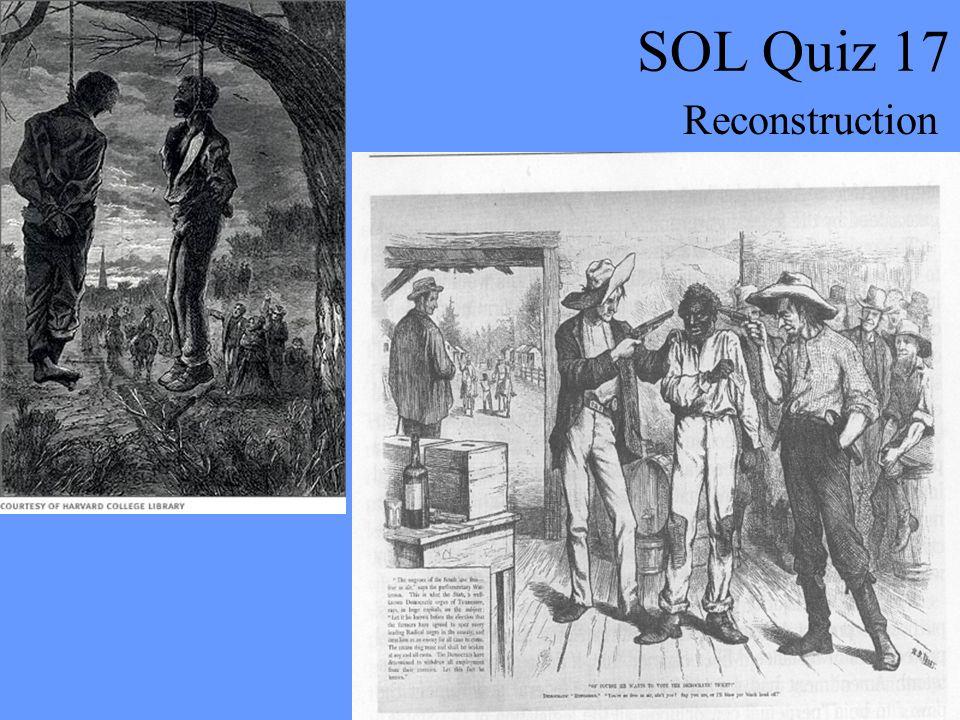 SOL Quiz 17 Reconstruction