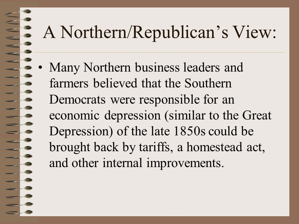 A Northern/Republican's View: