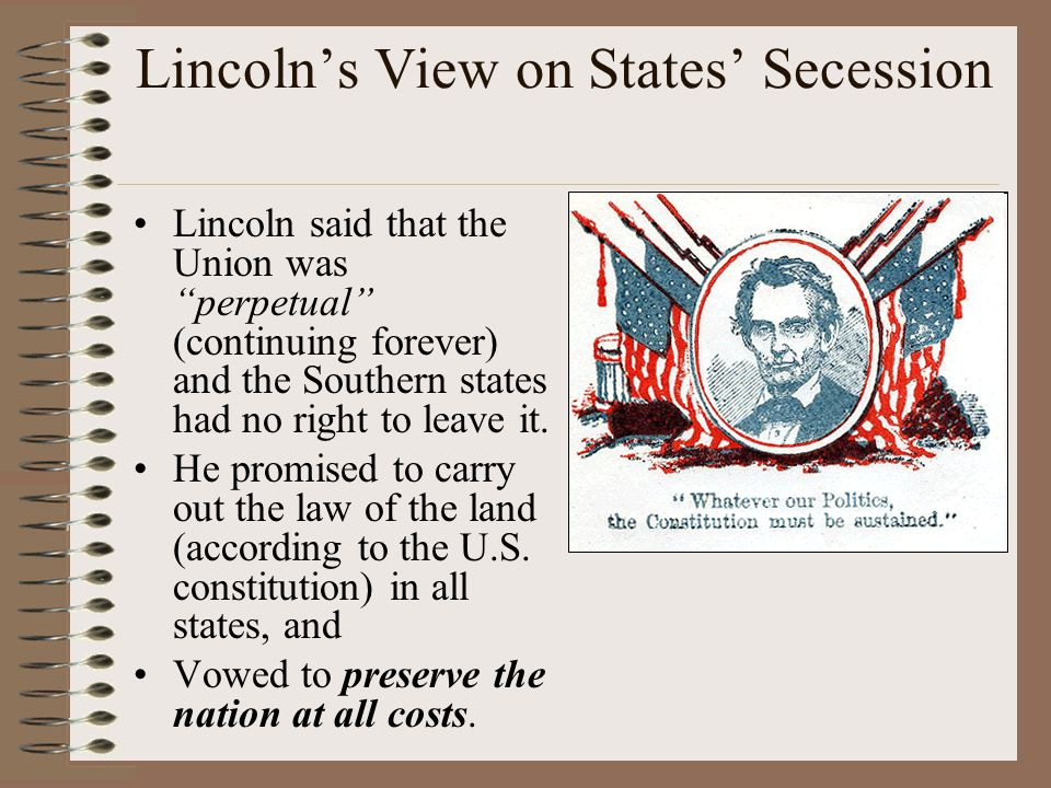 Lincoln's View on States' Secession