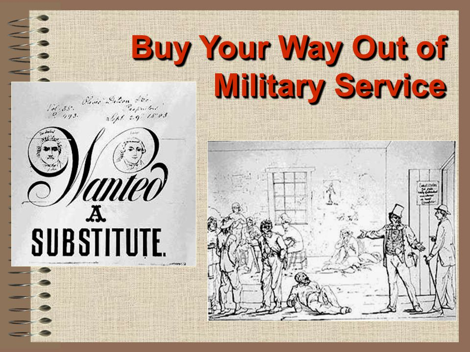 Buy Your Way Out of Military Service