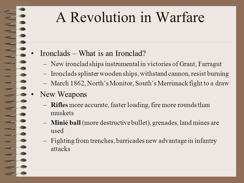 A Revolution in Warfare