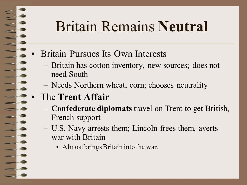 Britain Remains Neutral