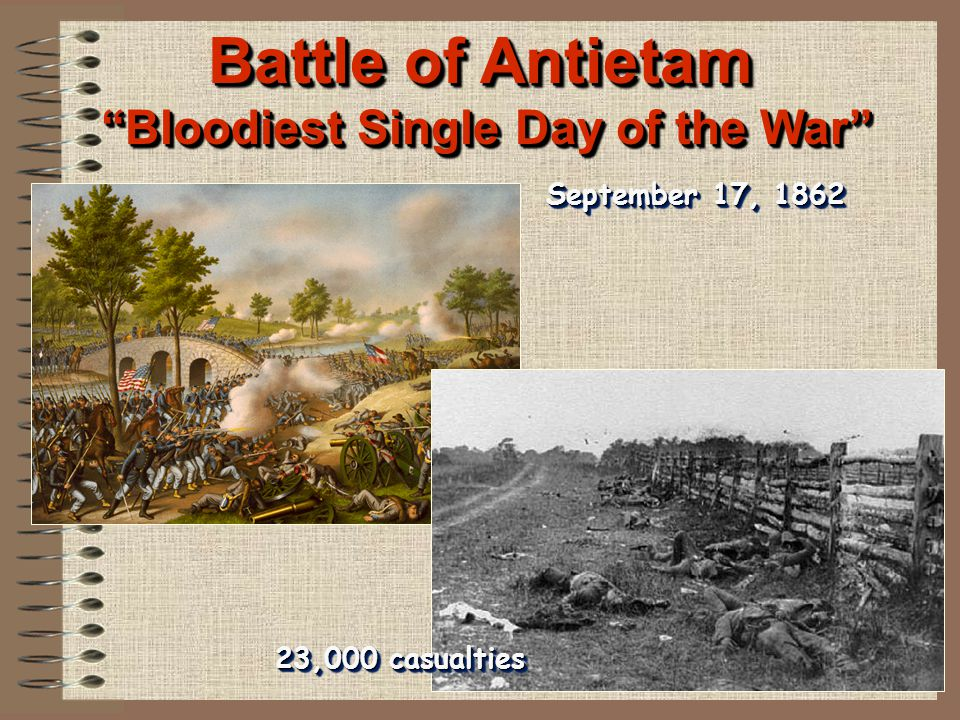Battle of Antietam Bloodiest Single Day of the War