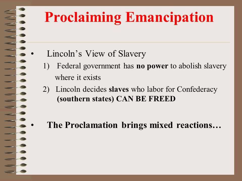 Proclaiming Emancipation