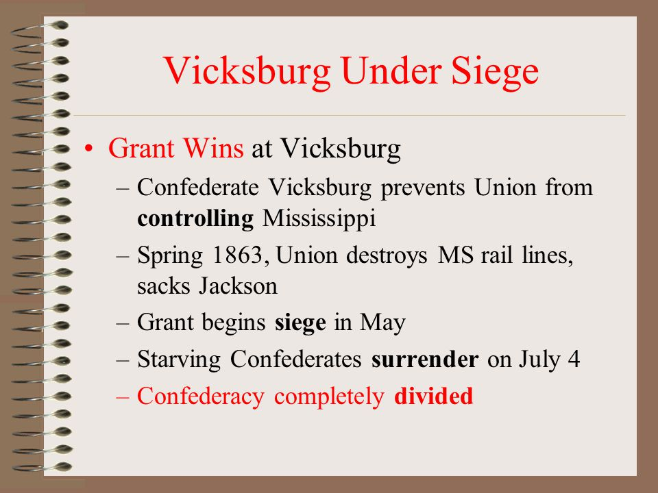 Vicksburg Under Siege Grant Wins at Vicksburg