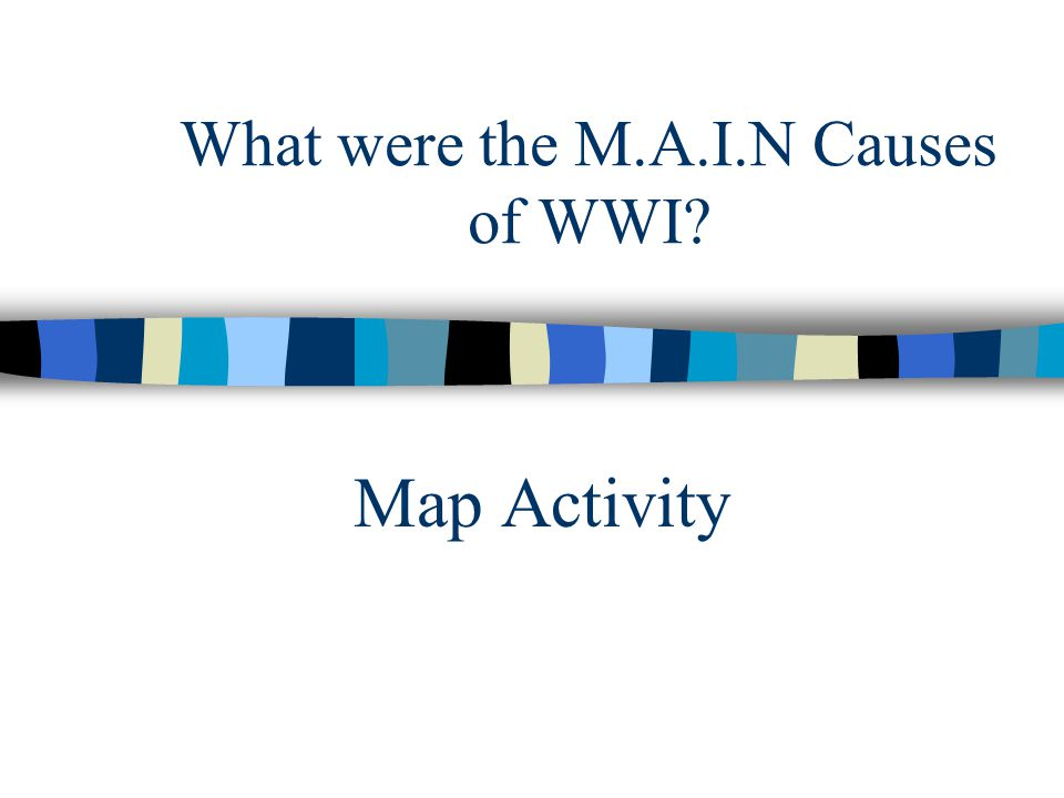 What were the M.A.I.N Causes of WWI