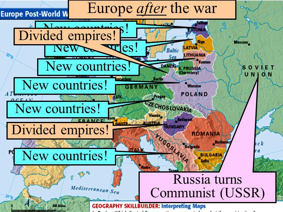 Russia turns Communist (USSR)