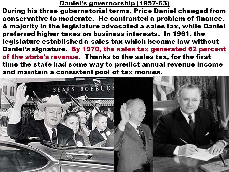 Daniel's governorship (1957-63)