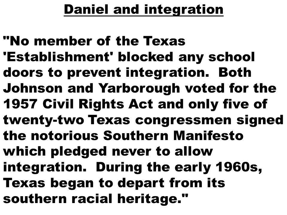 Daniel and integration