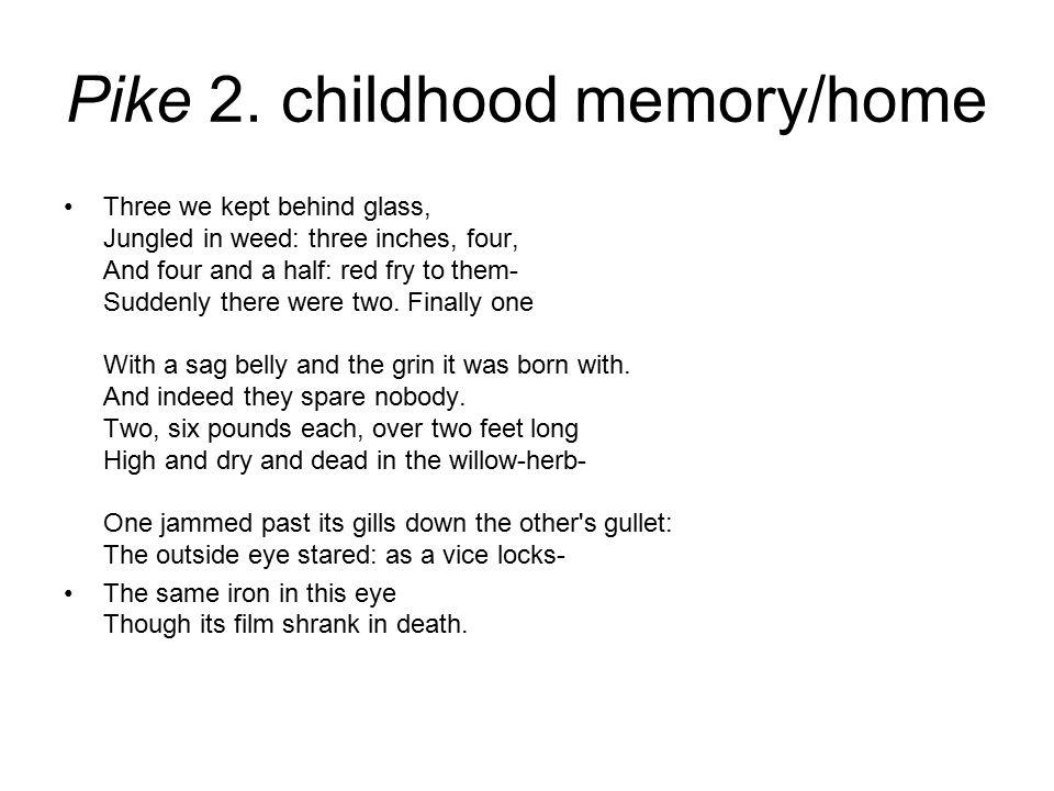Pike 2. childhood memory/home