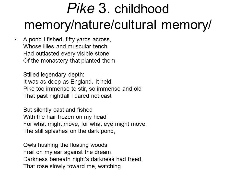 Pike 3. childhood memory/nature/cultural memory/