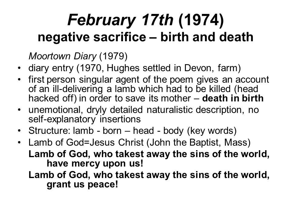 February 17th (1974) negative sacrifice – birth and death
