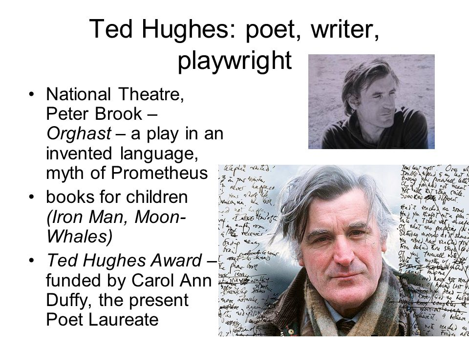 Ted Hughes: poet, writer, playwright